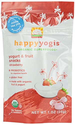 Happy Yogis Baby Food, Strawberry, 1 oz