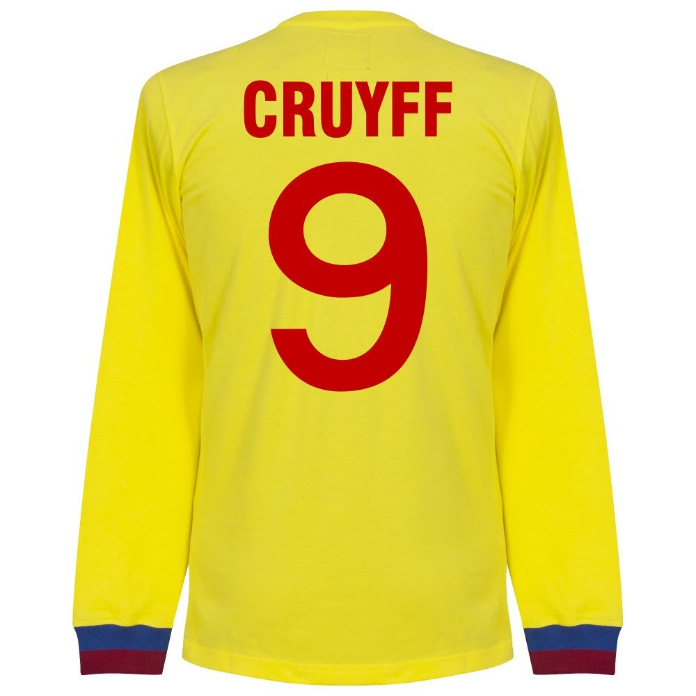 74-75 Barcelona Away L S Retro Trikot + Cruyff 9