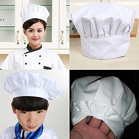 Leisial 1 Pz Cappello da Chef Maschile e Femminile Cuochi Apprentice  Cappello da lavoro per Hotel ... c41dbba0d942