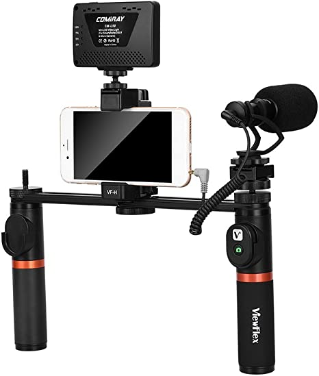 Bulufree VF-H7 Smartphone Rig Video Dual Handheld Metal Grip ...