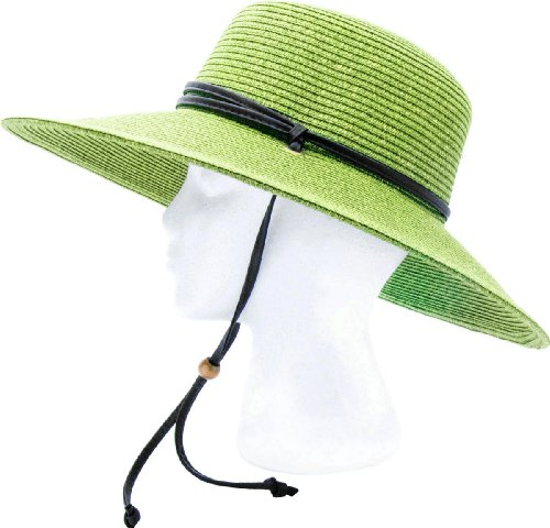 ... Sloggers - Women s Wide Brim Braided Sun Hat with Wind Lanyard - Rated  UPF 50+ f42ccbf5137c
