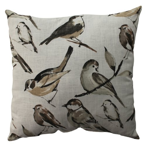 Pillow Perfect Bird Watcher Floor Pillow, 24.5-Inch, Charcoa
