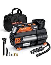 TACKLIFE Newest Upgraded Tire Inflator, 12V DC Portable Air Compressor with Digital Pressure Gauge, Auto Air Pump for Cars, Bikes, Balls, Other Inflatables