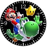 "Best IkEA clock - New Super Mario Yoshi Wall Clock 10""Nice Gift Review"
