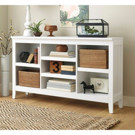Threshold Carson Horizontal Bookcase, White Finish by Threshold