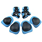 Homieco 6pcs Unisex Children Protective Gear Sets Elbow Knee Pads Protector Equipment for Riding Bicycle