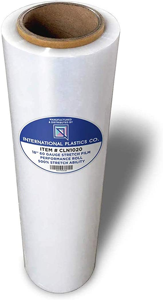 Cast Machine Stretch Film Roll 1 Pack Pallet Packing Plastic Wrap 19.7 Inch x 5000 Feet Clear