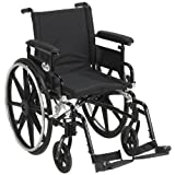 """Viper Plus GT Wheelchair with Flip Back Removable Adjustable Full Arms, Swing away Footrests, 18"""" Seat"""