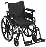 "Drive Medical Viper Plus GT Wheelchair with Flip Back Removable Adjustable Full Arms, Swing away Footrests, 16"" Seat"