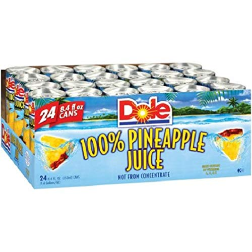 Dole 100% Pineapple Juice 84oz 24 Count by dole pine apple juice