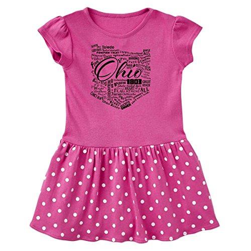 inktastic - Ohio Word Salad Toddler Dress 2T Raspberry with Polka Dots 28a8b