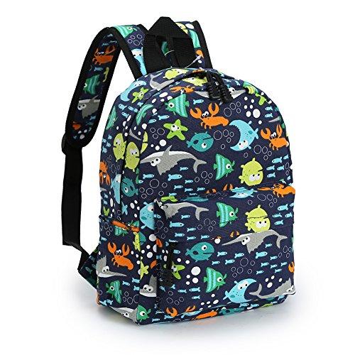 Zicac Kids Book Backpack Baby Children's School Bag (M, Blue)