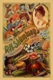 """Flowers Corn Tomato Onion Vegetables Crate Label 1895 Rockford Illinois Garden Farm 12"""" X 16"""" Image Size Vintage Poster Reproduction , We have other sizes available !"""