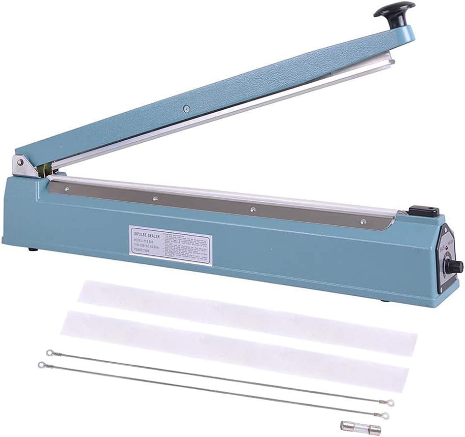 B07RX14YQQ WeChef Commercial Manual Impulse Hand Sealer Heat Sealing Machine Poly Tubing Plastic Bag with Elements 20 inch 500mm 51R3vGafZjL