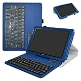 "Acer Iconia One 10 B3-A40 Bluetooth Keyboard Case,Mama Mouth Slim Stand PU Leather Cover With Romovable Bluetooth Keyboard For 10.1"" Acer Iconia One 10 B3-A40 Android Tablet,Blue"