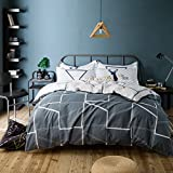 TheFit Paisley Textile Bedding for Teenagers W277 Chill Modern Duvet Cover Set 100% Cotton, Queen Set, 4 Pieces