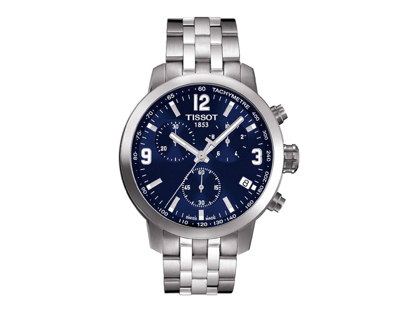 Tissot Tissot VR 200 Chronograph Blau Zifferblatt Edelstahl Stahl Mens Watch T0554171104700