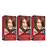 Revlon Colorsilk Beautiful Color, Permanent Hair Dye with Keratin, 100% Gray Coverage, Ammonia Free, 51 Light Brown (Pack of 3)