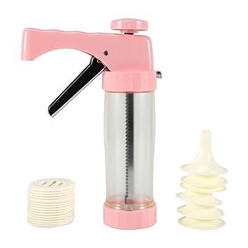 Yosoo Cookie Biscuit Maker prensa máquina Bakeware – Molde para decoración de pasteles consejos Kit Plus