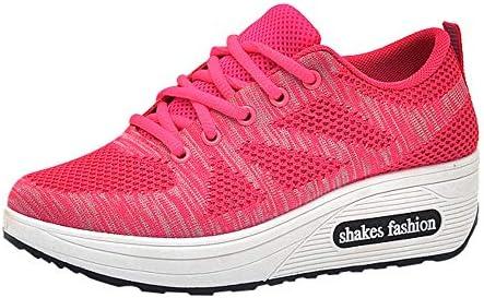 Zapatillas deportivas de deporte de aire unisex para correr, gimnasio, entrenamiento, fitness, zapatos ligeros, deportivos casuales y gruesos, para mujer, rosa: Amazon.es: Bricolaje y herramientas