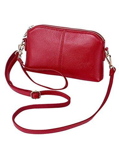 Bag Genuine Handle 38177 Bag Shoulder Women's Wine Leather Bag red body Cross 8dqdH