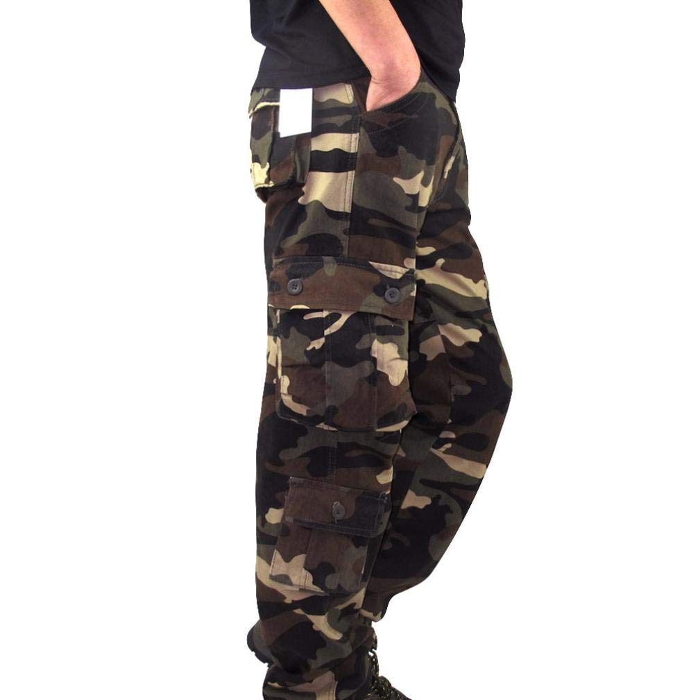 Dacawin Multi-Pockets Casual Cargo Pants Men Camouflage Fit Outdoors Work Beach Trousers by Dacawin (Image #2)