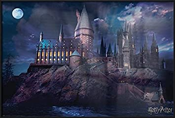 Harry Potter – Framed Movie Poster Print Hogwarts by Night Size 24 inches x 36 inches