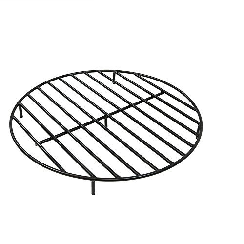 Sunnydaze Round Outdoor Fire Pit Grate, Heavy Duty Steel, 30-Inch, Black