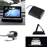 ZHUOTOP 4.3 High Resolution TFT Foldable Wireless LCD Screen Rearview Monitor Car Rear View Reverse Parking Camera Kit