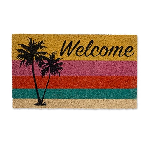 - DII DM Welcome Palm Tree Doormat, 18x30