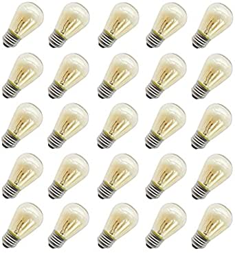 11 Watt Outdoor Light Bulbs, Rolay S14 Warm Replacement Bulbs for Outdoor Patio String Lights