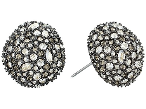 Alexis Bittar Women's Crystal Encrusted Button Post Earrings Ruthenium One Size