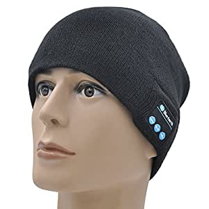 GoldWorld Bluetooth V4.1 Wireless Musical Beanie Winter Hat Knit Cap Beanies with 2 speakers Unique Christmas Gifts for Kids Men Women Teen Boys Girls Outdoor Sport Running
