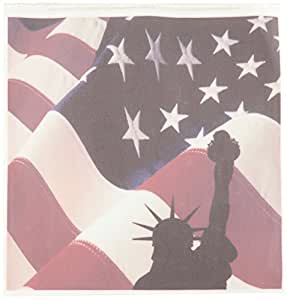 3dRose ht_77305_3 Statue of Liberty with Flag-Iron on Heat Transfer for White Material, 10 by 10-Inch