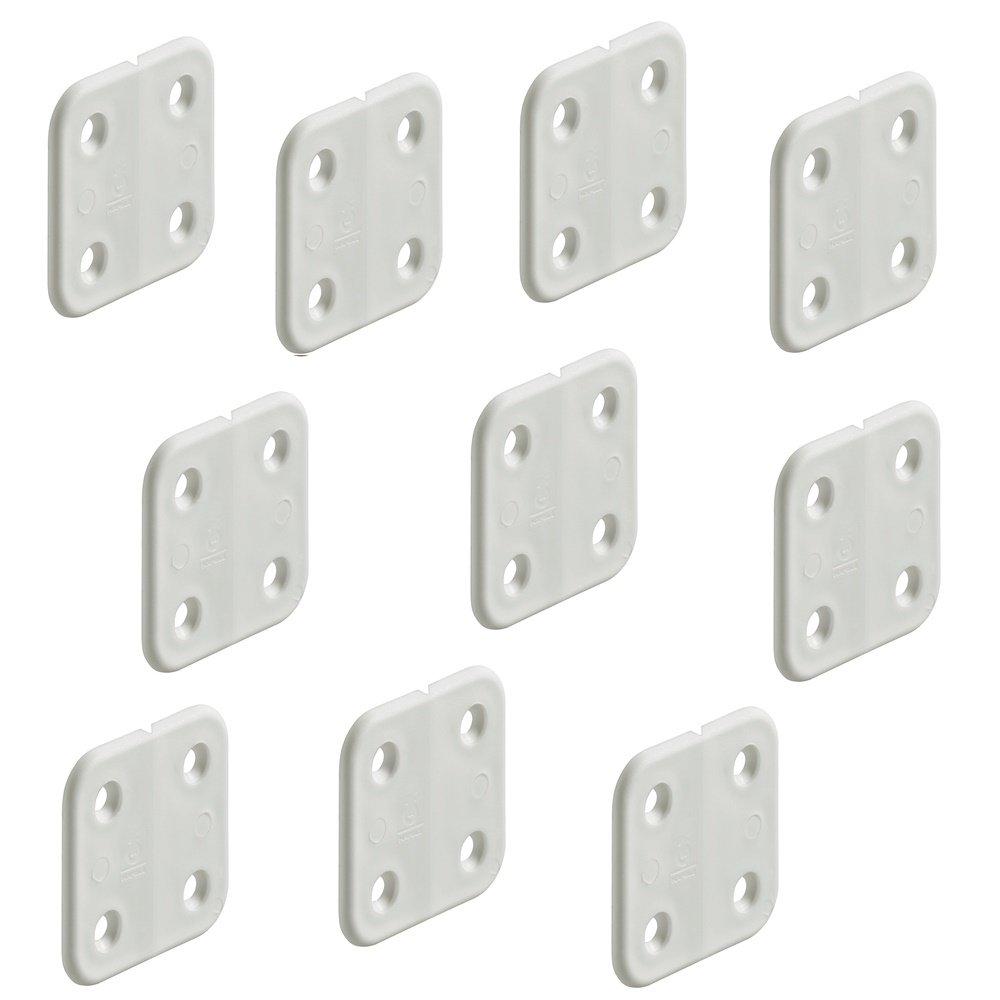 Lot de 10–gedotec® Plastique–Charnière gelenklos | Meubles Charnière 40x 40mm | Charnière Bateau & Caravan en polypropylène résistant | Produit de qualité pour vo