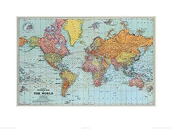 1art1 109384 Weltkarten - General Map of The World 1920, Stanfords on