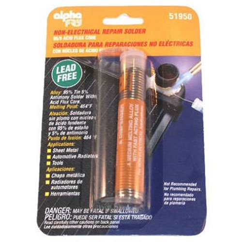 alpha fry AM51950 Solder Acid Core 0.062 Dia 95% Tin / 5% Antimony 0.90 oz Jensen (Home Improvement)