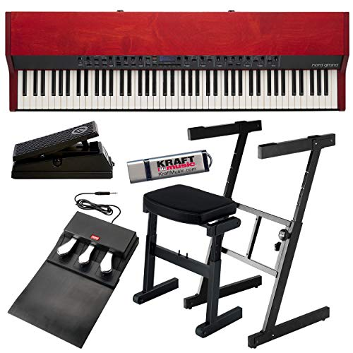 Nord Grand Stage Piano with Z-Stand, Bench, and Pedals