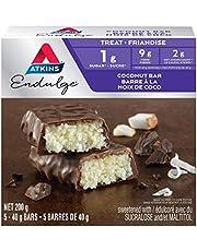 Atkins Endulge Bars - Coconut, 1g Sugar, Keto-Friendly, High Fibre - 5-Count