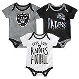 NFL by Outerstuff NFL Oakland Raiders Newborn & Infant Little Tailgater Short Sleeve Bodysuit Set Black, 3-6 Months