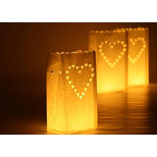 Amazon.com: 10 bolsas de papel para velas de té, velas de ...