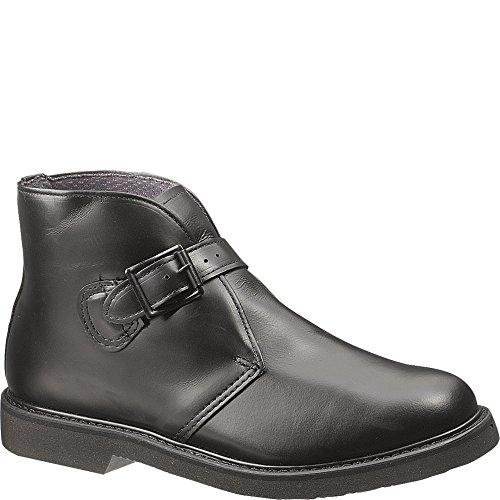 Bates Men's Bates Lites Buckle Uniform Leather Chukka, Black, 12 D US