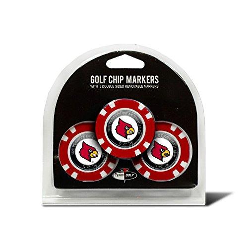 Team Golf NCAA Louisville Cardinals Gift Set Embroidered Golf Towel, 3 Golf Balls, and 14 Golf Tees 2-3/4