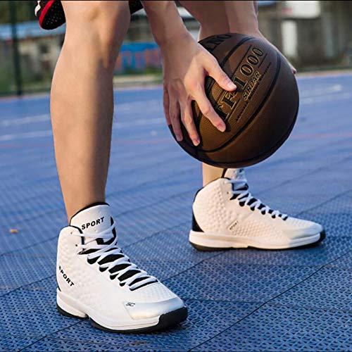 Otoño Hombre White Fhtd Invierno De Zapatos Aire Transpirable Deportes Cojín Baloncesto Altos Para Libre Al gHnxpXxIq