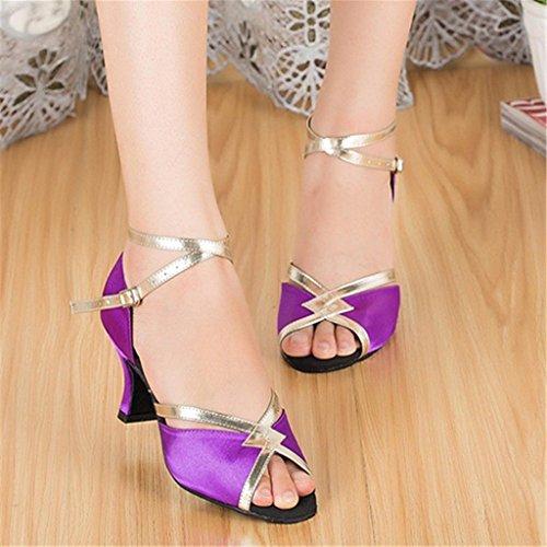 Violet Tango Salsa Standard Dance Latin Women's 6cm Ballroom Shoes Monie CqaUz4