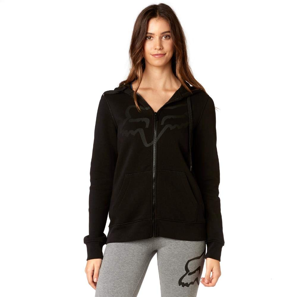 Fox Racing Womens Certain Fleece Hoody Zip Sweatshirts 19648-001-M