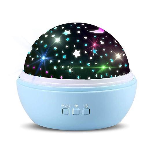Proyector de luz de Estrella, lámpara de Noche Romántico Giratorio ...
