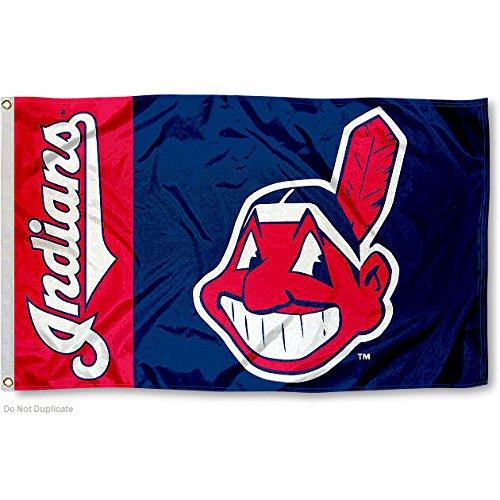 [Cleveland Indians Flag 3x5 MLB Banner] (Cleveland Indians Banner)