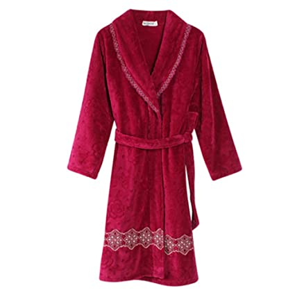 Albornoz Nan Liang para Mujer 100% de Lujo de algodón Egipcio Súper Suave Terry Toweling