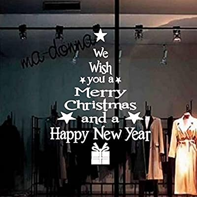 pora merry christmas and happy new year vinyl wall decal home